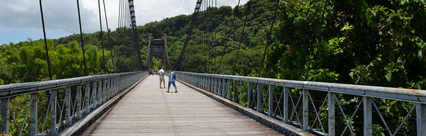 Photo d'un Pont Suspendu à La Réunion
